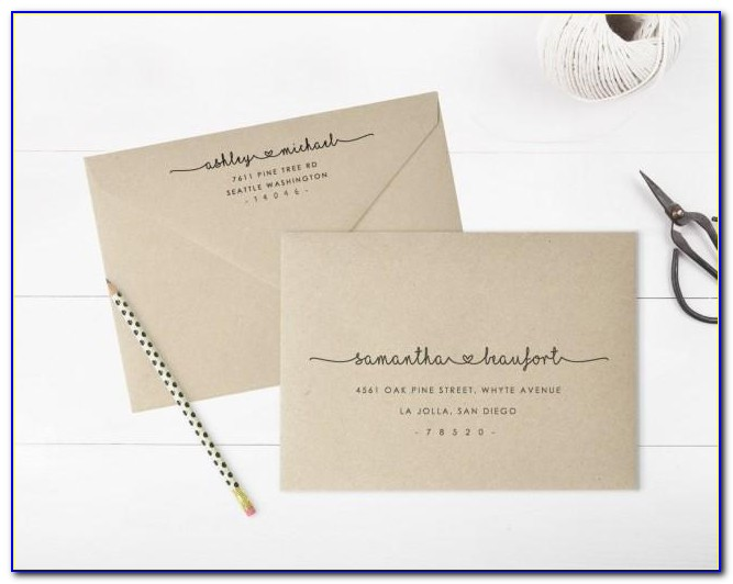 Invitation Envelope Template Word