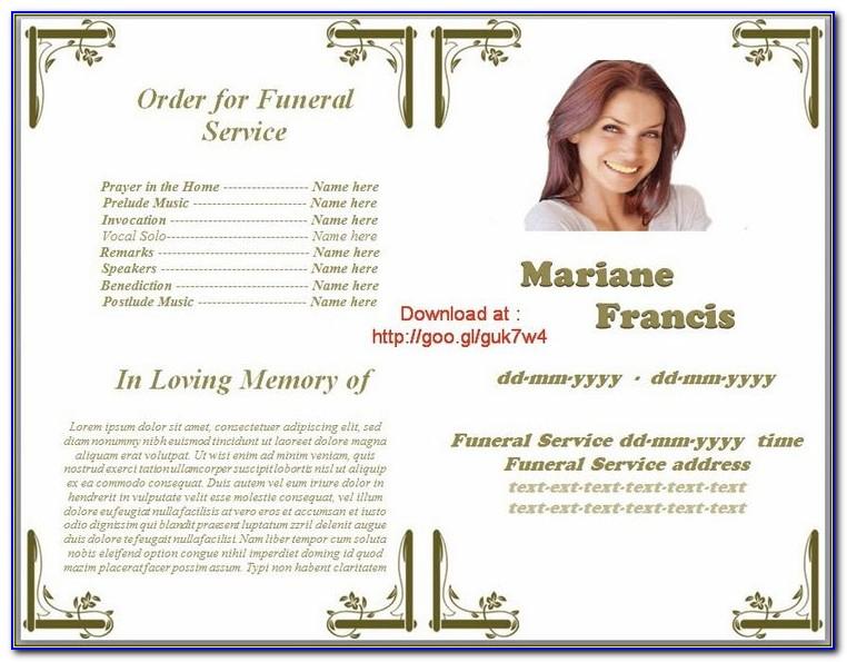 Lds Funeral Program Template Word
