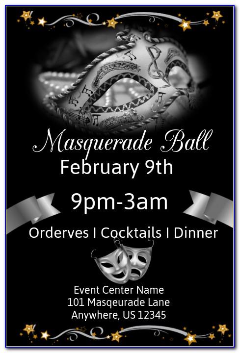 Masquerade Ball Flyer Template Free