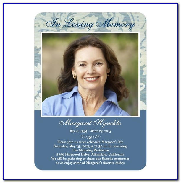 Memorial Card Template Download