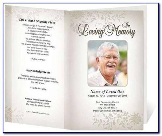 Memorial Program Template Indesign