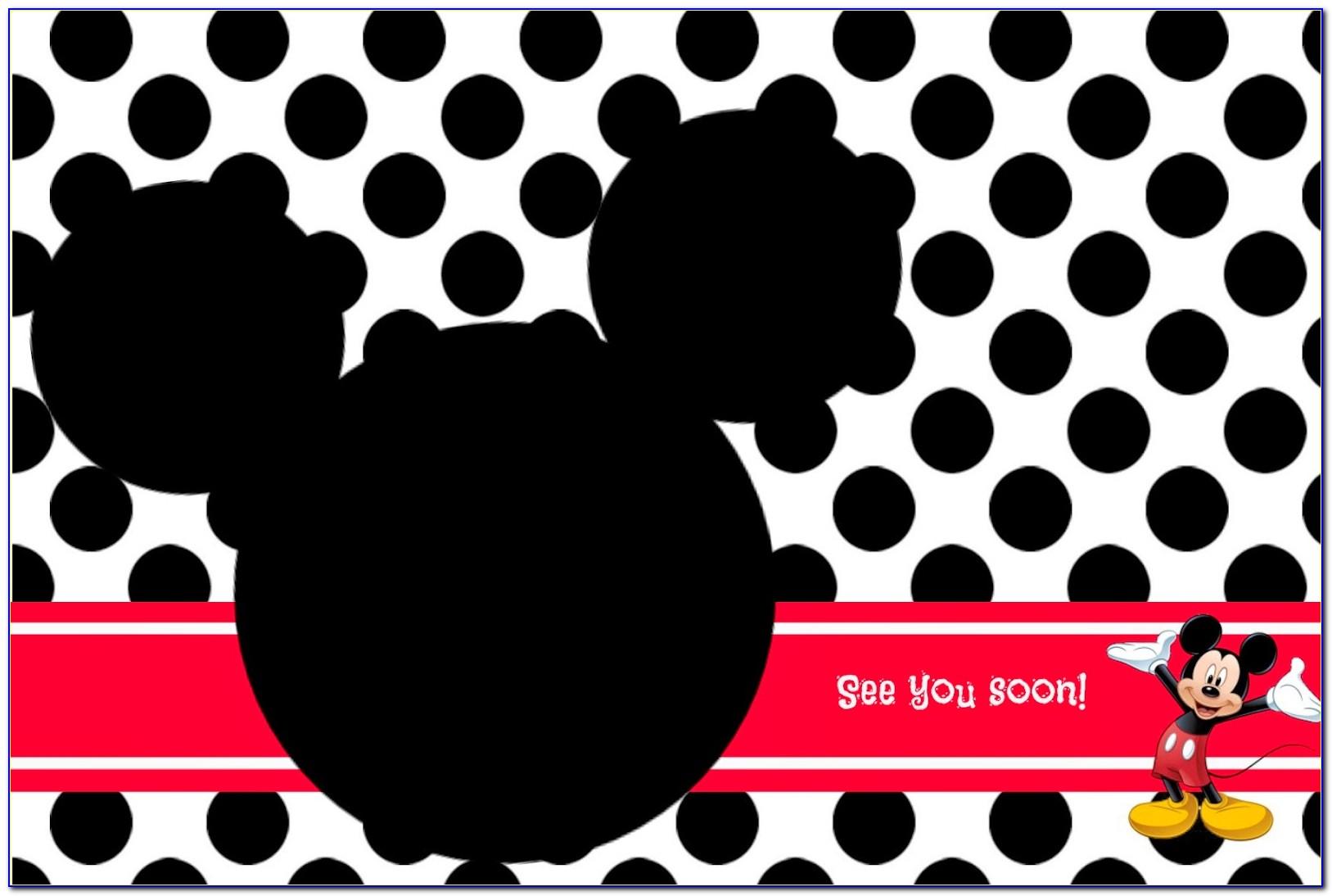 Mickey Mouse Invitation Template Editable