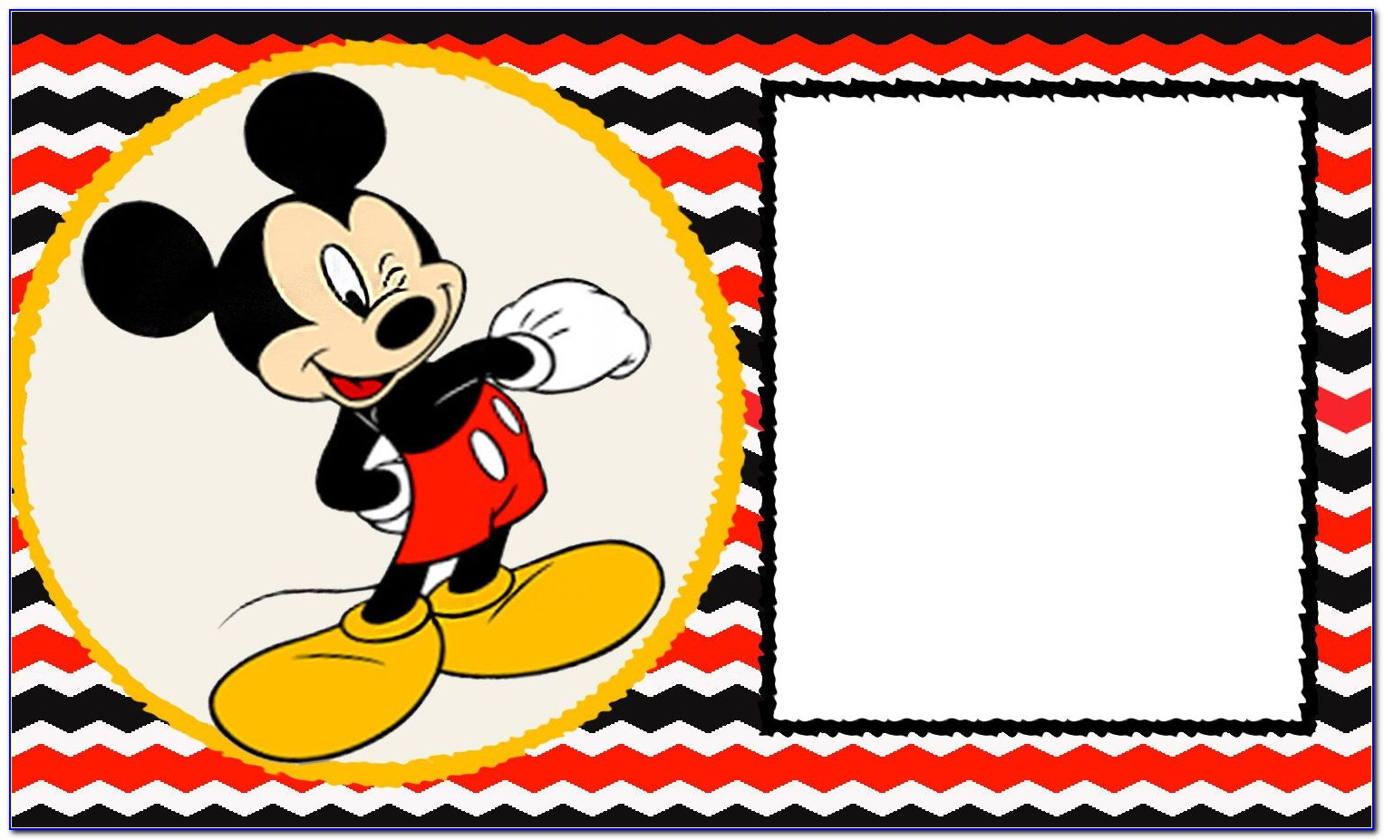 Mickey Mouse Invitation Templates