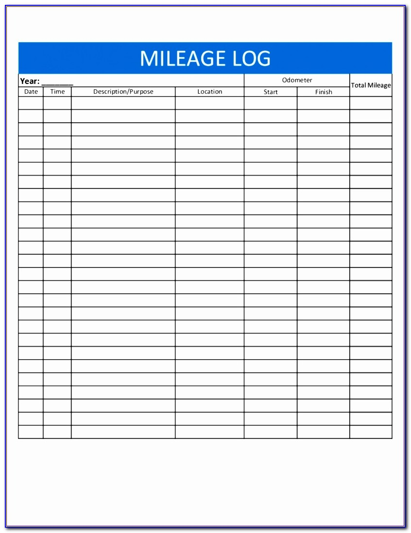 Mileage Log Template Excel Rlcxy Elegant Mileage Spreadsheet For Taxes