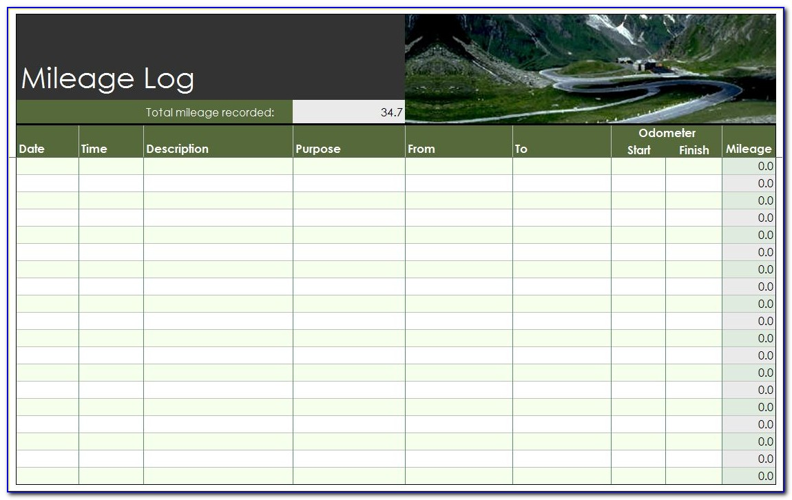 Mileage Log Template For Self Employed Uk
