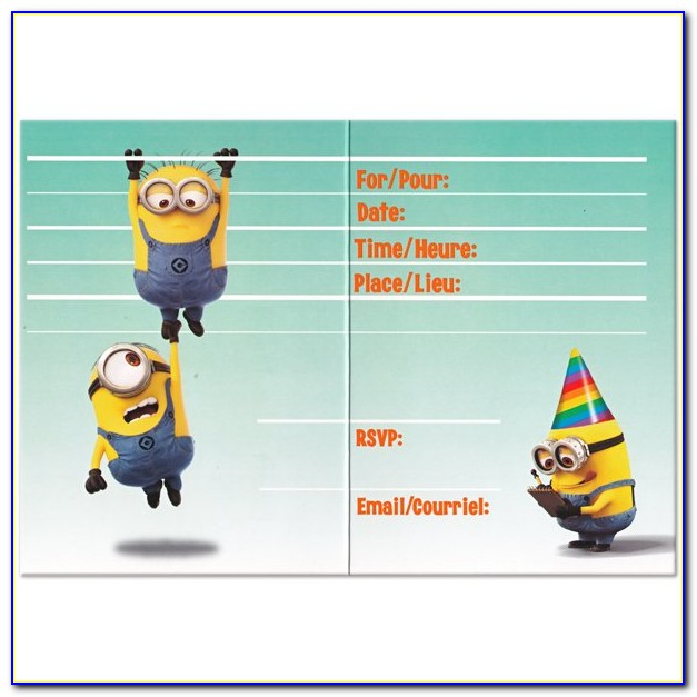 Minion Birthday Invitation Templates Free Download