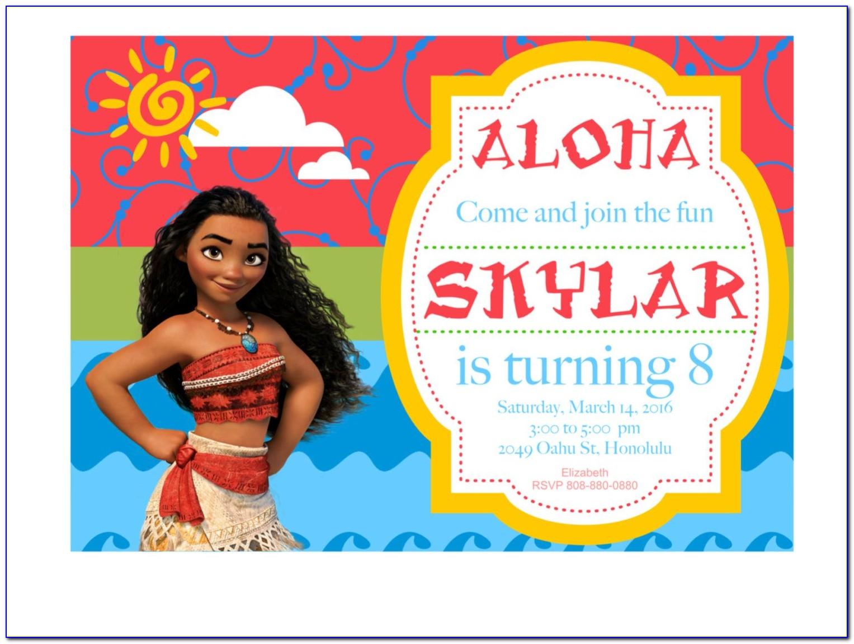 Moana Birthday Invitation Template Free