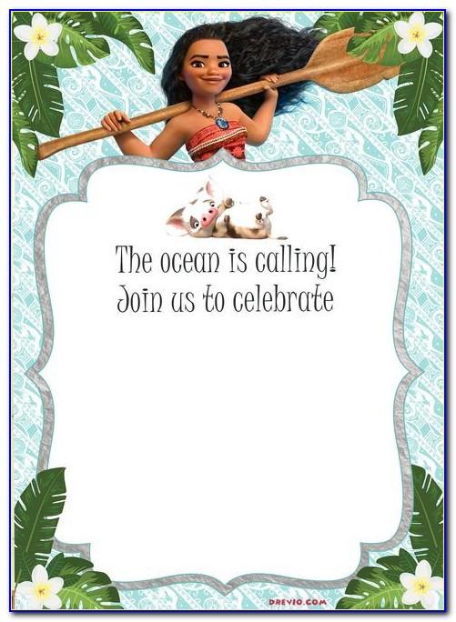 Moana Invitation Template Editable