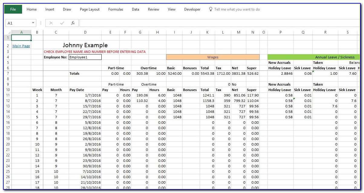Monthly Payroll Report Template