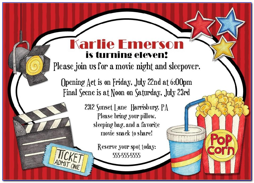 Movie Party Invitations Templates