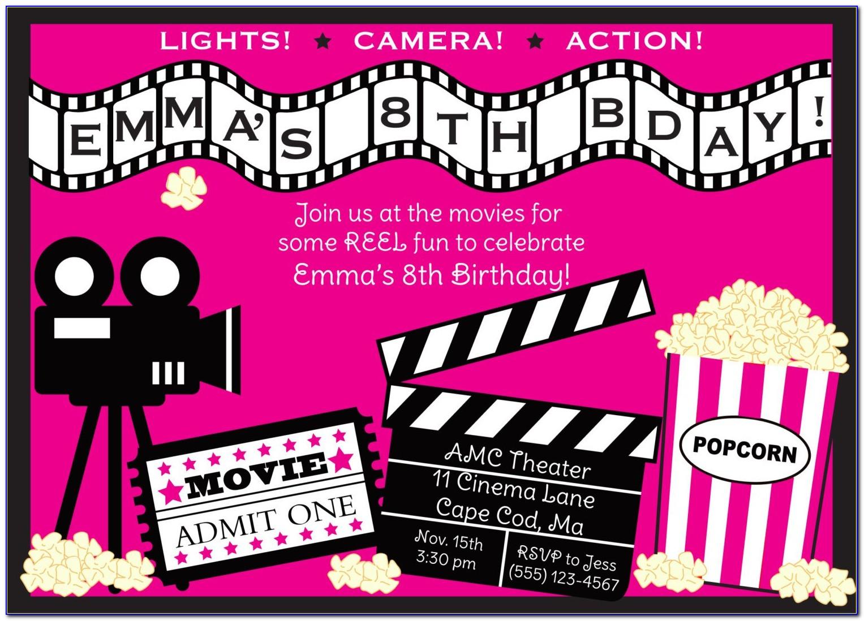 Movie Party Invite Template Free