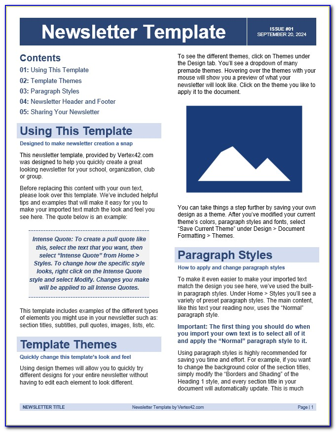 Newsletter Templates Word For Teachers