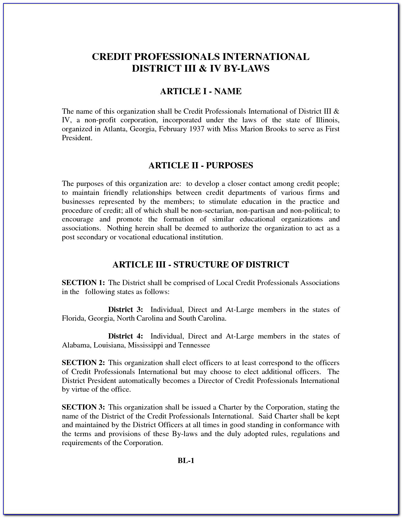 Non Profit Bylaws Template Maryland