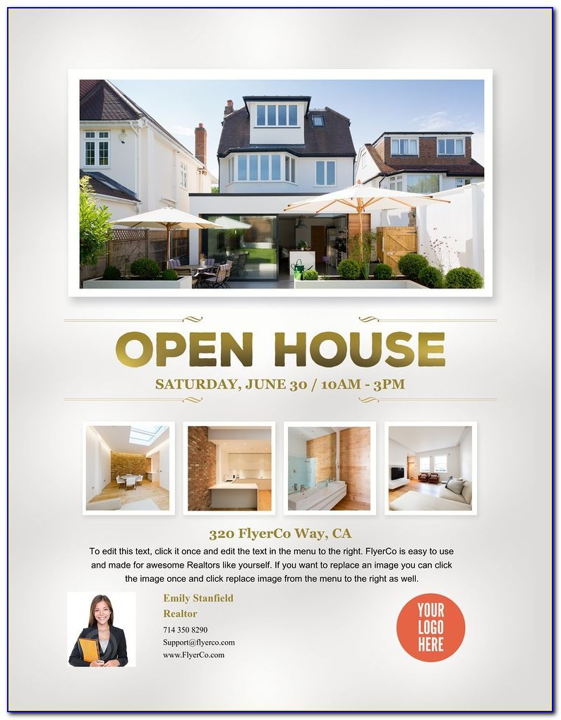 Open House Flyer Template Psd