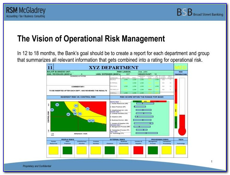 Operational Risk Assessment Report Template