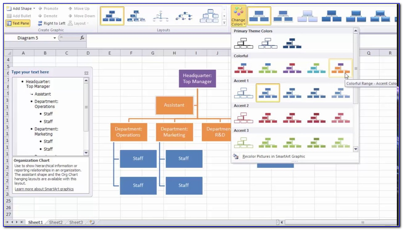Organizational Chart Template Excel Free