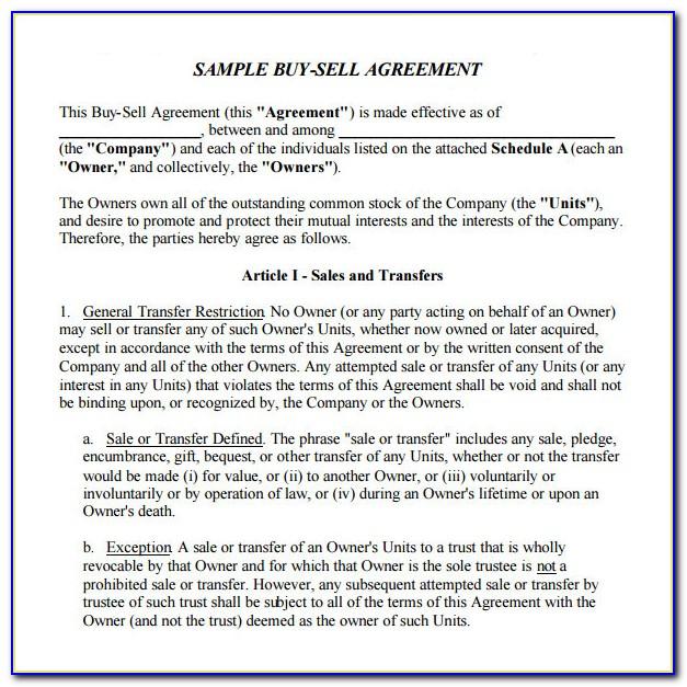 Partnership Buyout Agreement Form