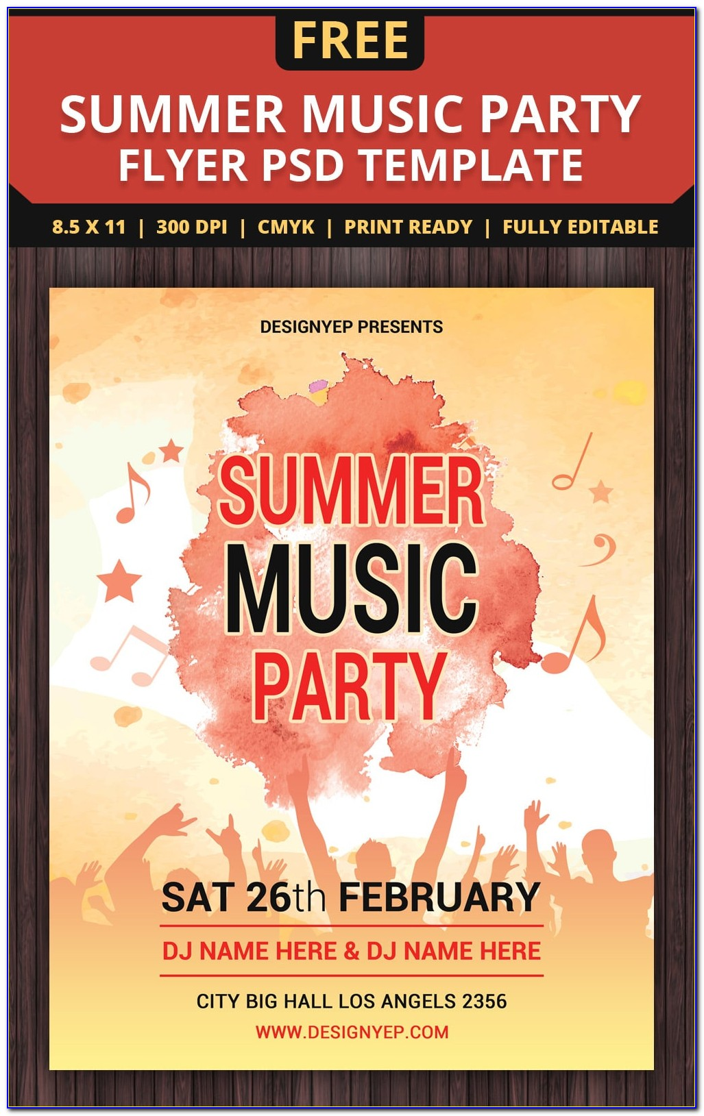 Party Flyer Templates Free Microsoft Word