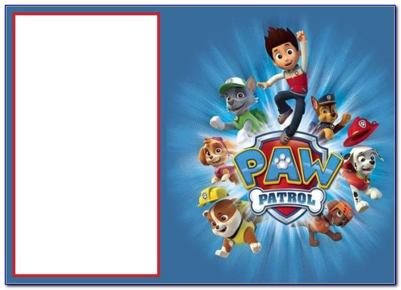 Paw Patrol Invitation Templates Free Download