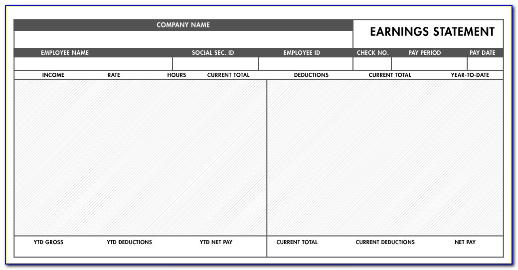 Pay Stub Template Free Excel