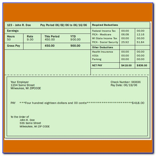 Pay Stub Template Pdf Free