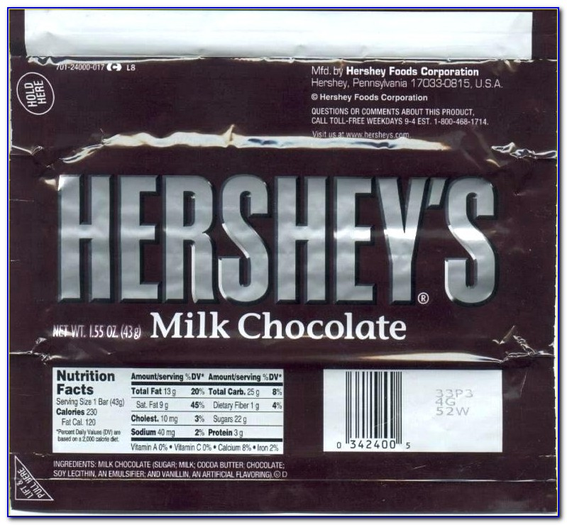 Personalised Chocolate Wrapper Template Free