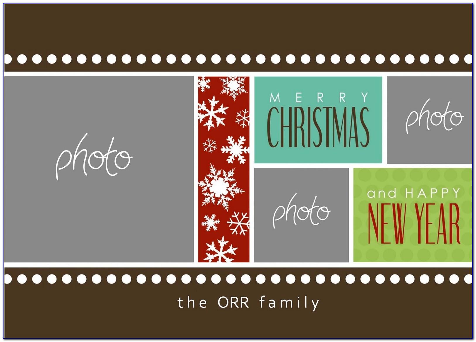 Photoshop Photo Christmas Card Templates