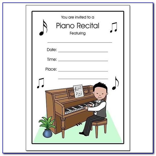 Piano Recital Invitation Template Free