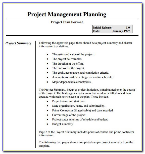 Pmi Project Management Plan Outline