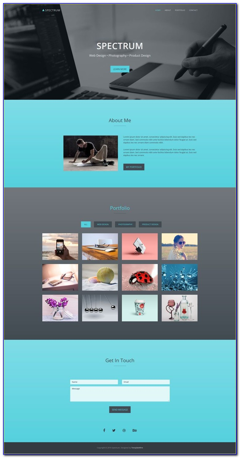 Portfolio Website Templates Free Psd