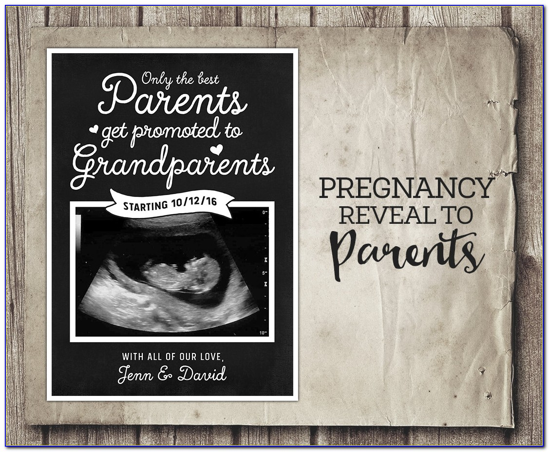 Pregnancy Announcement Template App