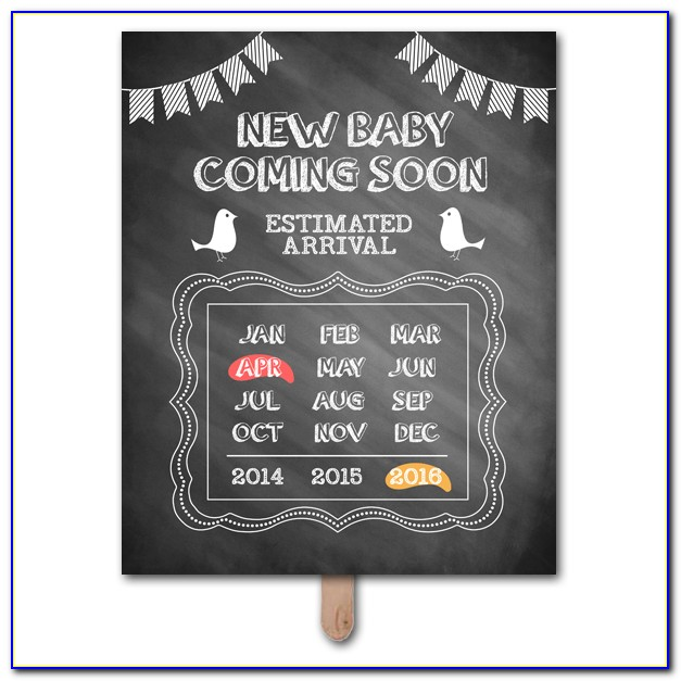 Pregnancy Announcement Template Free
