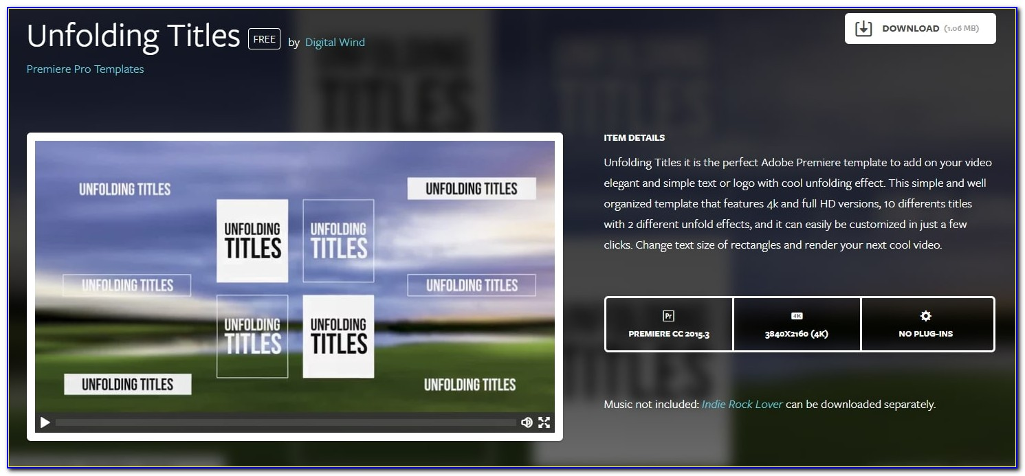 Premiere Pro Templates Slideshow Free