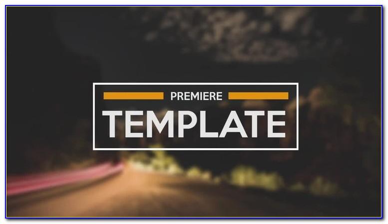Premiere Pro Templates Slideshow