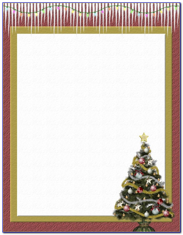 Printable Christmas Letterhead Templates