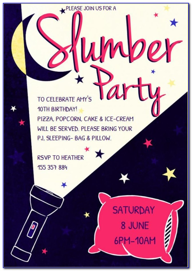 Printable Slumber Party Invitation Templates