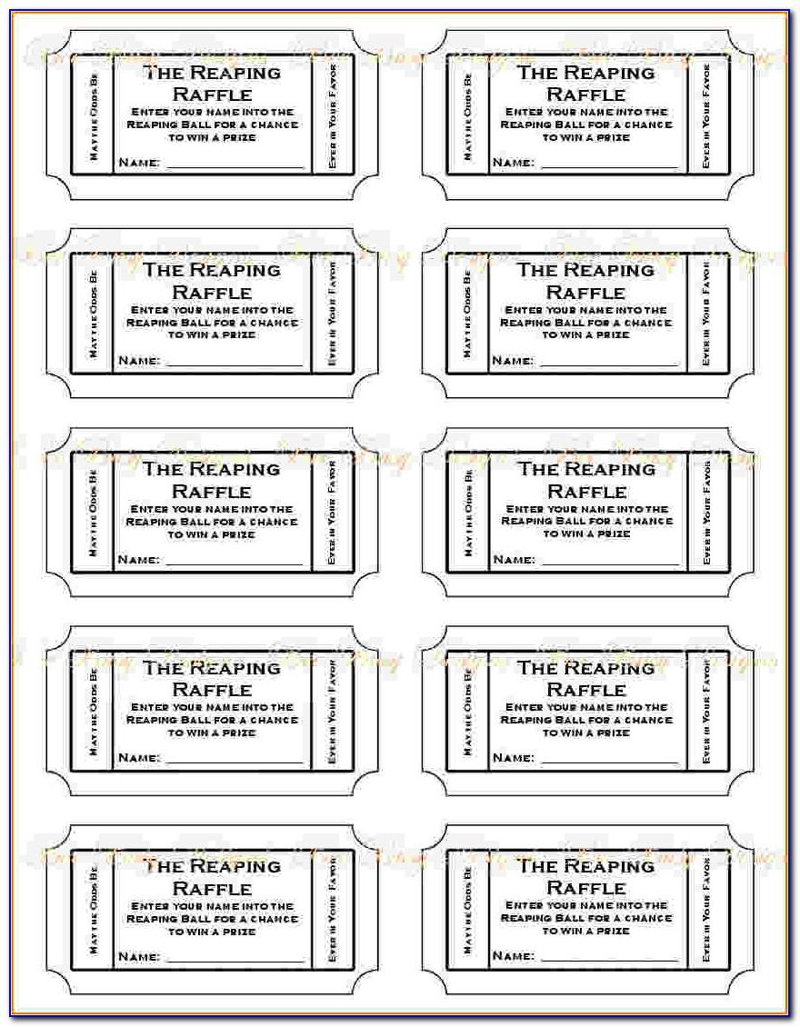 Printable Ticket Templates Free