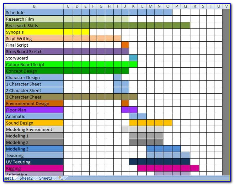 Production Planner Excel Template