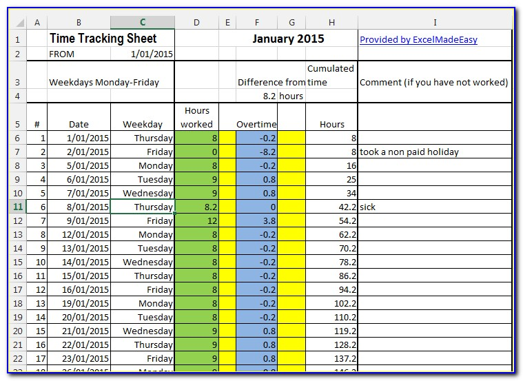 Project Action Tracker Excel Template