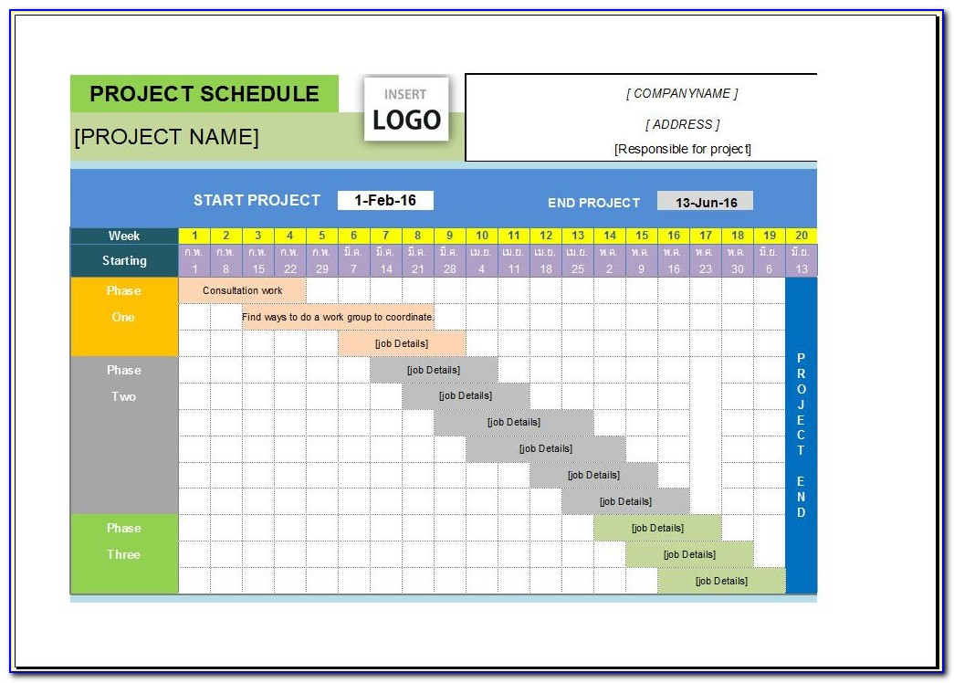 Project Management Plan Timeline Template