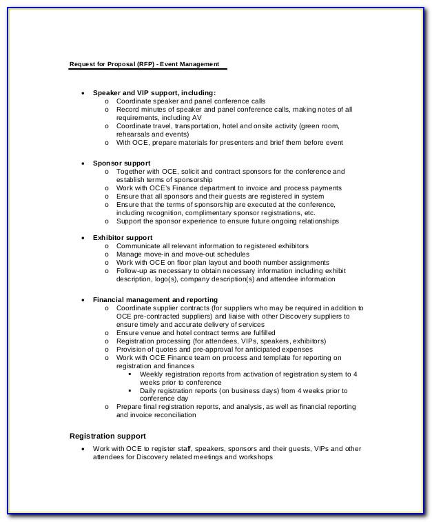 Proposal Template For Event Managemen