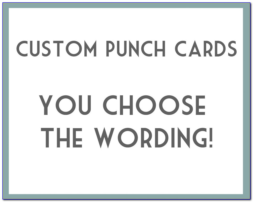 Punch Card Template Microsoft Publisher