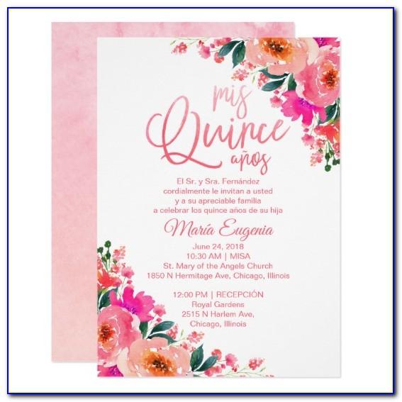 Quinceanera Invitations Wording Templates