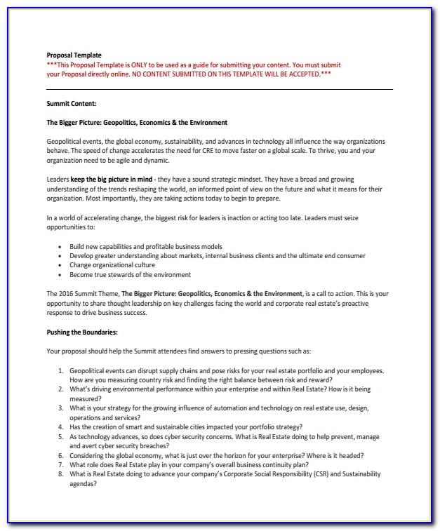 Real Estate Proposal Layout