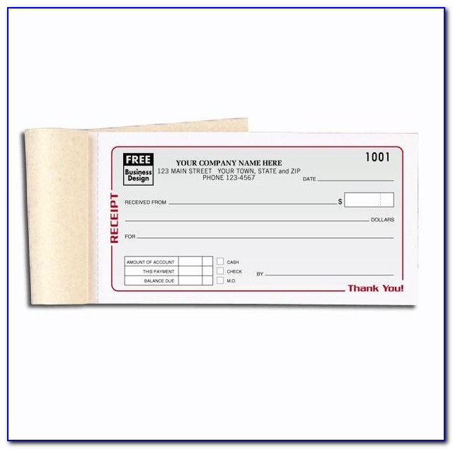 Receipt Book Design Template