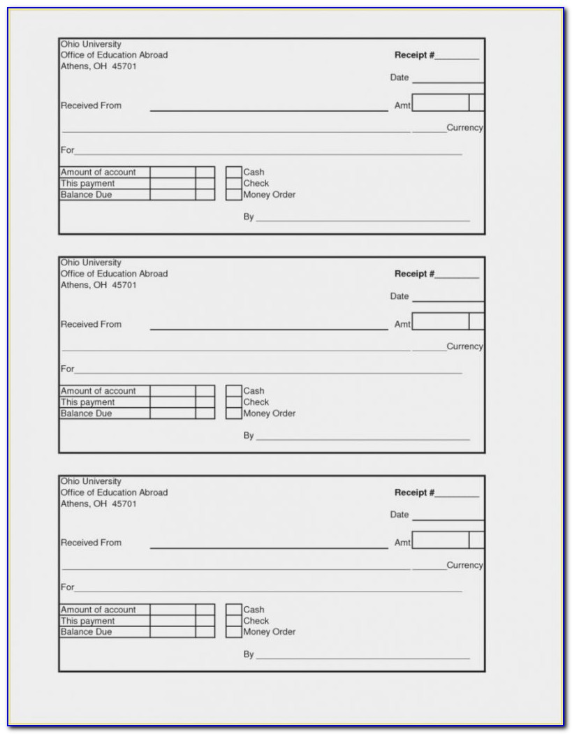 Receipt Book Template Psd