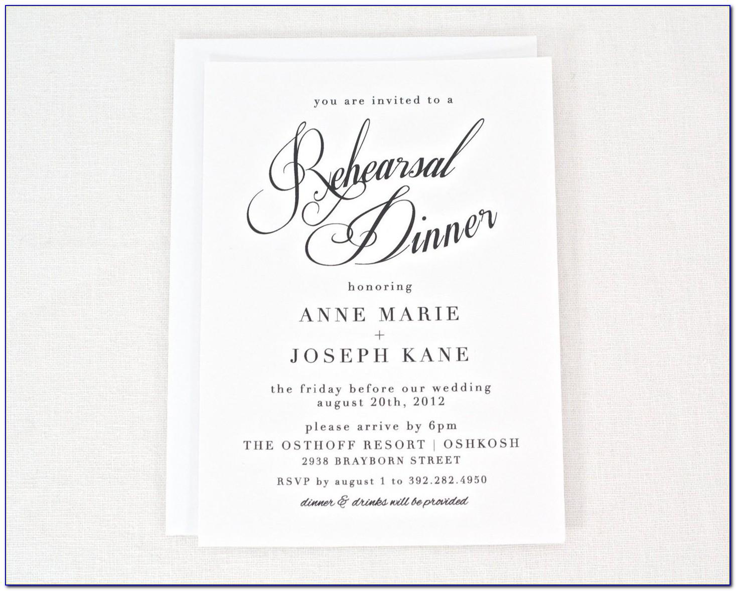 Rehearsal Dinner Invitation Wording Divorced Parents