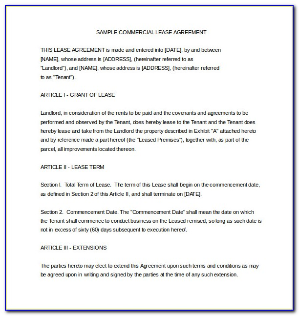 Rent Contract Template Word