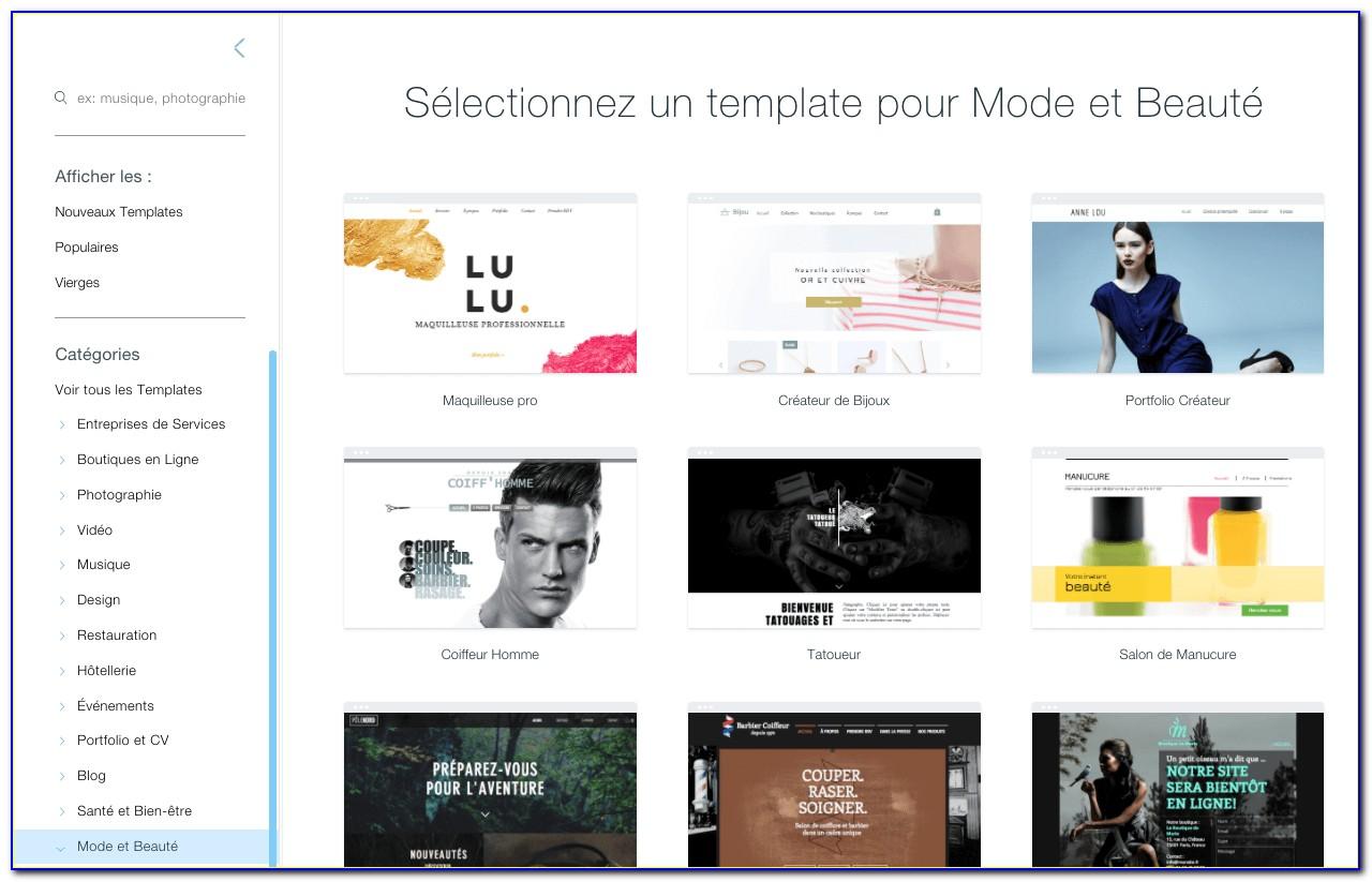 Responsive Website Templates Wix