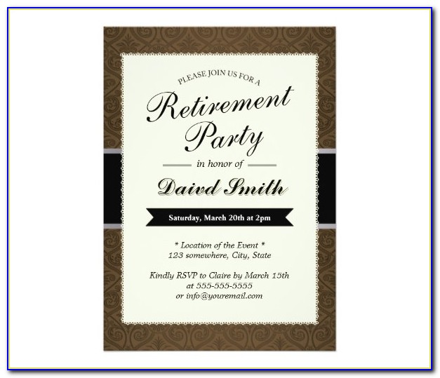 Retirement Party Invitation Templates For Word